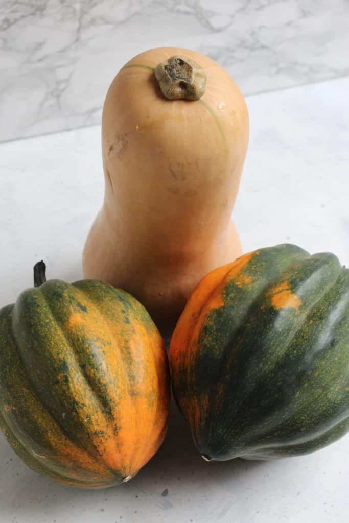 Butternut and Acorn Squash --Maple Roasted Squash Wedges